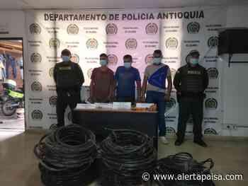 Señalados de hurtar más de 300 cables de telecomunicaciones en Sopetrán, Antioquia, perjudicaron a más de 180 familias - Alerta Paisa