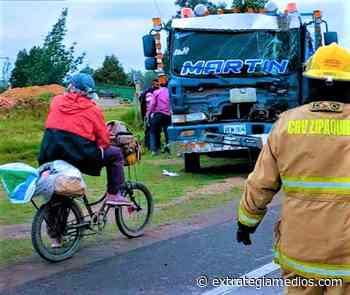 Accidentados dos camiones en la Variante Zipaquirá-Ubaté, sector Los Patios - Extrategia Medios