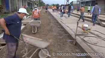 Municipalidad provincial de Tambopata inicia la pavimentación del jirón Faustino Maldonado - Radio Madre de Dios