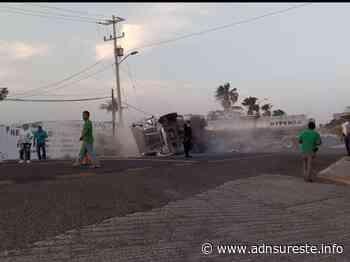 Volcadura de pipa cargada de turbosina genera pánico en Tehuantepec (12:50 h) - ADNl sureste