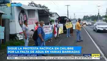 Residentes de San Vicente en Chilibre solicitan a las autoridades abastecimiento de agua - TVN Noticias