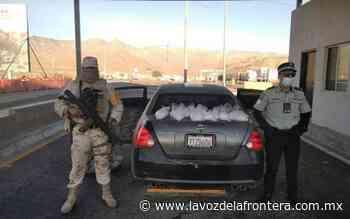 """Decomisan """"meta"""" en el retén militar El Centinela - La Voz de la Frontera"""