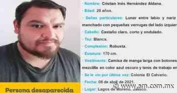 Jalisco: Cristian Inés Hernández cumple 8 días desaparecido en Lagos de Moreno - Periódico AM