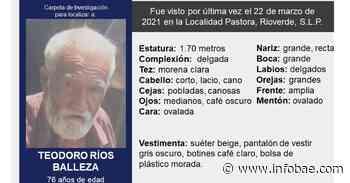 Hombre de la tercera edad que desapareció en San Luis Potosí, fue hallado en el EdoMex - infobae