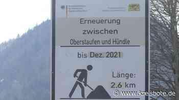 Großbaustelle B 308 bei Oberstaufen - Kreisbote