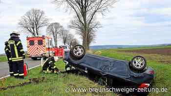 Pkw überschlägt sich bei Wolfenbüttel – Fahrerin verletzt