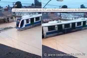 CTBU suspende circulação do VLT entre Maceió e Rio Largo devido às chuvas - Cada Minuto