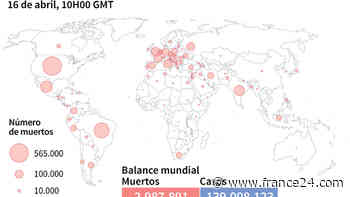 Balance mundial de la pandemia de coronavirus el 16 de abril a las 10H00 GMT - FRANCE 24