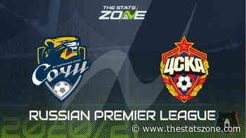 2020-21 Russian Premier League – Sochi vs CSKA Moscow Preview & Prediction - The Stats Zone