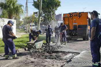 Nuevas obras de asfalto y bacheo en Carapachay - Que Pasa Web