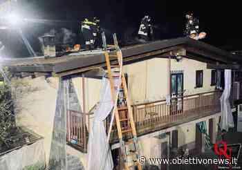 VOLPIANO – Incendio tetto in via Vauda (FOTO) - ObiettivoNews
