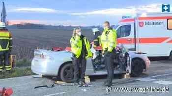 Zusammenstoß auf Kreuzung: 19-Jähriger aus Visbek verletzt sich bei Verkehrsunfall schwer - Nordwest-Zeitung