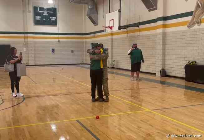 Soldier Dad Surprises Son At North Texas School After 13 Months Apart