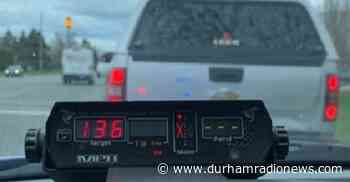 Driver clocked going 136 km/h in 70 zone in Bowmanville: DRPS - durhamradionews.com