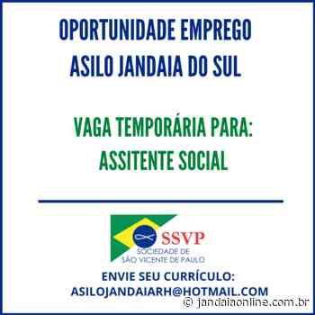 Oportunidade de Emprego: Asilo de Jandaia do Sul - Jandaia Online