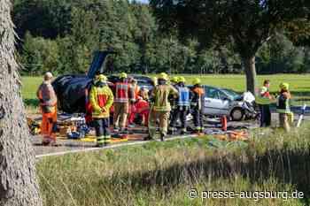 Landkreis Neuburg-Schrobenhausen   Drei Schwerverletzte nach Unfall mit Landmaschine in Aresing - Frau in - Presse Augsburg