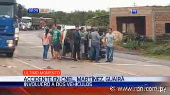 Camión y otros vehículos se ven involucrados en accidente en Coronel Martínez - Resumen de Noticias