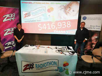 Annual Z99 Radiothon raises $416938 for Regina NICU - News Talk 980 CJME