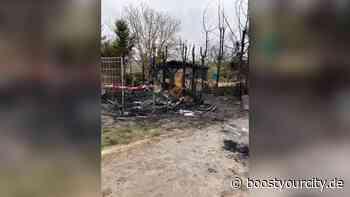 Barackenbrand zwischen Bodenheim und Gau-Bischofsheim - Boost your City   Rhein-Main Nachrichten