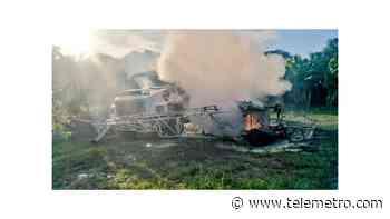 Helicóptero cae sobre un camión en Changuinola y provoca una explosión - Telemetro