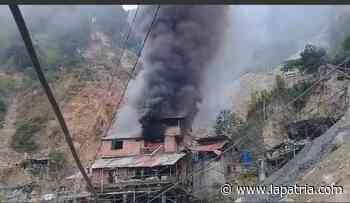 Bomberos controló incendio en Marmato - La Patria.com