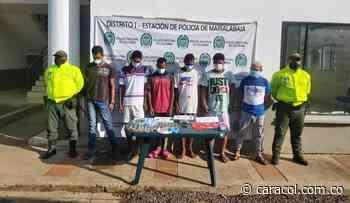Seis personas capturadas por microtráfico en Mahates, Bolívar - Caracol Radio