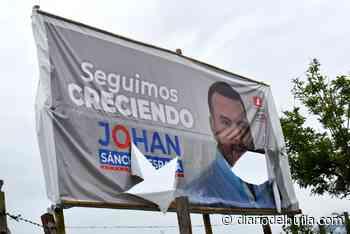 Destruyen publicidad de la campaña de Johan Sánchez España en El Agrado - Diario del Huila