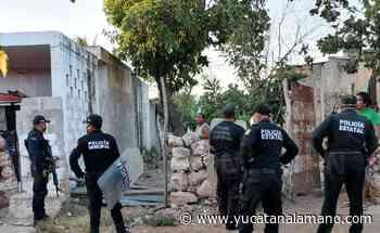 Alcoholizado lapida casa y agrede con barreta a sujeto en Ticul - Yucatán a la mano