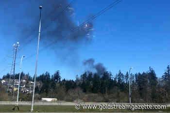 UPDATED: Saanich fire crews truck in water as hog fuel fire smoulders - Goldstream News Gazette