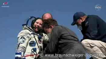 Sojus-Kapsel bringt drei Raumfahrer wohlbehalten von ISS zurück