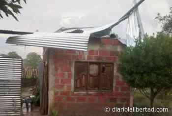 Casas destechadas por fuerte vendaval en Los Pendales, Luruaco - Diario La Libertad