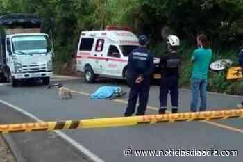 Ciclista muere al chocar con camión en la vía Facatativá – Albán, Cundinamarca - Noticias Día a Día