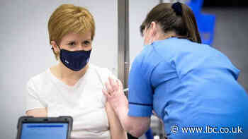Half of Scottish population has received a first dose of the coronavirus vaccine - LBC