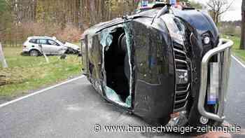 Schwerer Unfall bei Leiferde – Auto überschlägt sich
