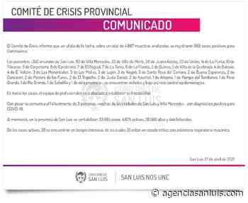 Este sábado se registraron 665 casos positivos de Coronavirus en la provincia - Agencia de Noticias San Luis