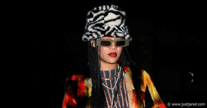 Rihanna Wears a Very Bold Outfit for Dinner in Santa Monica!