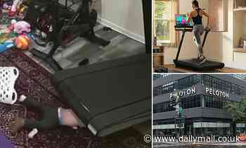 Disturbing footage of a young boy being sucked under a treadmill is released