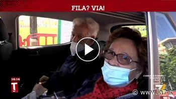 A Orbassano (Torino) il vaccino si fa in macchina - La7