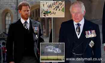 Prince Harry returns to Frogmore Cottage after Prince Philip funeral ahead of 'walk with Charles'