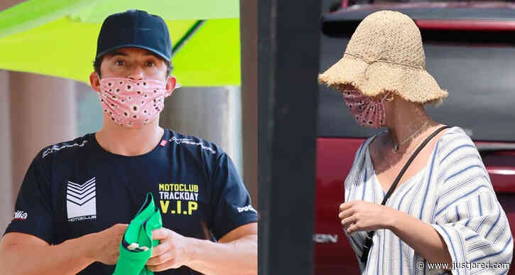 Orlando Bloom & Katy Perry Run Errands Together in Montecito