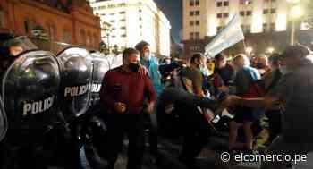 Fuertes protestas en Buenos Aires contra nuevas restricciones sanitarias por el coronavirus | FOTOS - El Comercio Perú