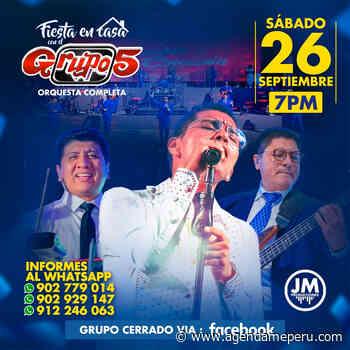 Grupo5 realizará concierto virtual desde Monsefú | Agéndame - Agéndame