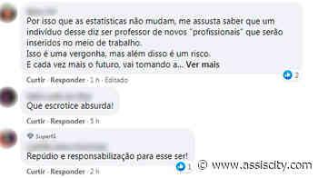 Professor de Ourinhos causa polêmica após fala sobre mulheres em aula online: 'O que é mais fácil estuprar?' - Assiscity