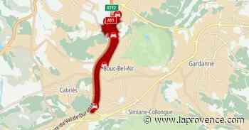 A51 : trafic complètement saturé entre Cabriès et les Milles en direction d'Aix - La Provence