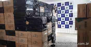 Teixeira de Freitas: Avaliada em R$ 600 mil, carga de cigarros falsificados é apreendida - Bahia Notícias