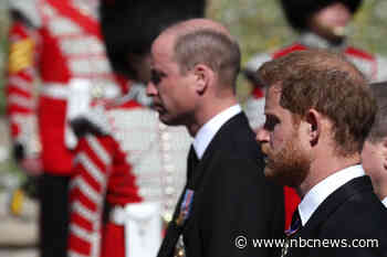 With all eyes on feuding brothers, Harry and William give fans reason to smile on somber day