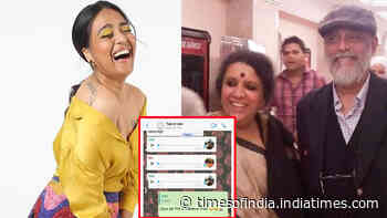 Swara Bhasker is left cringing as she has to watch her parents 'flirt' on family WhatsApp group, shares screenshot