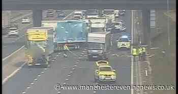 LIVE: M6 closed after lorry and caravan crash with traffic delays