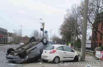 POL-HB: Nr.: 0286 --Auto landet auf dem Dach--