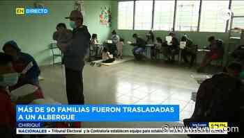 90 familias son evacuadas de las cercanías del río Chiriquí Viejo - TVN Panamá